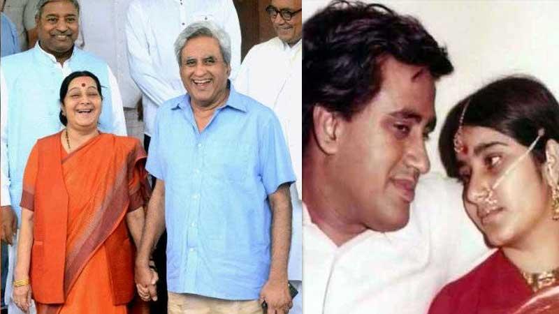 sushma swaraj husband swaraj kaushal parliament twitter response