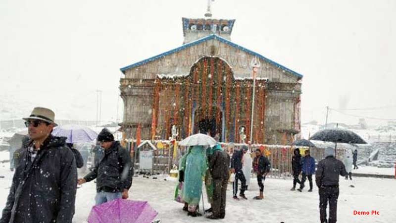 kedarnath and badrinath snowfall