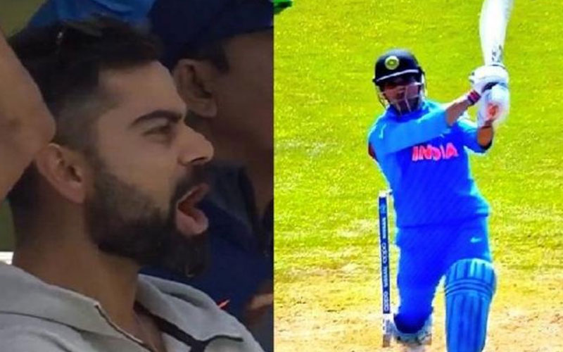 icc world cup 2019 ms dhoni slams his century with six against bangladesh virat kohli reaction