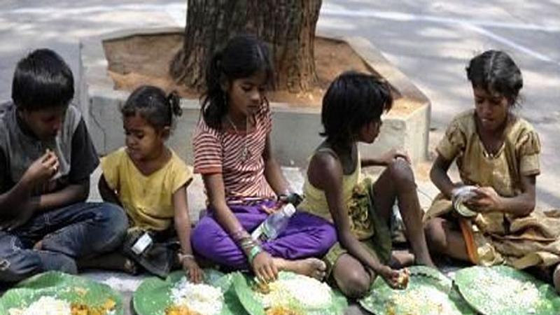 Malnourished Vijay rupani Gandhinagar Camp children