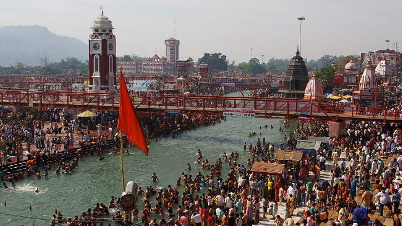 kumbh mela 2021  so far this has happened four times when the kumbh mela has come in haridwar after one year