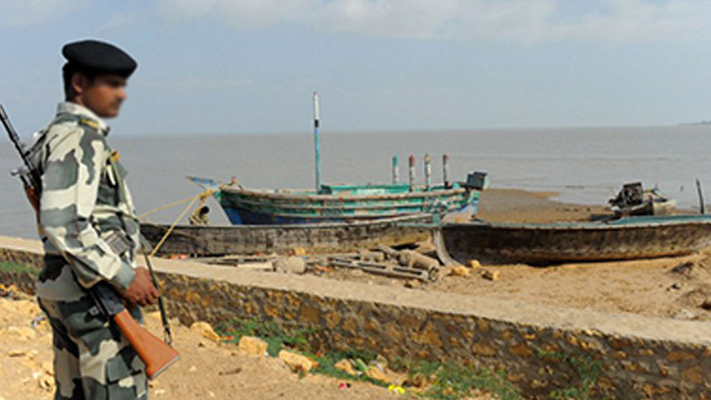 BSF Seizes Five Pakistani Boats at Haraminala in kutch