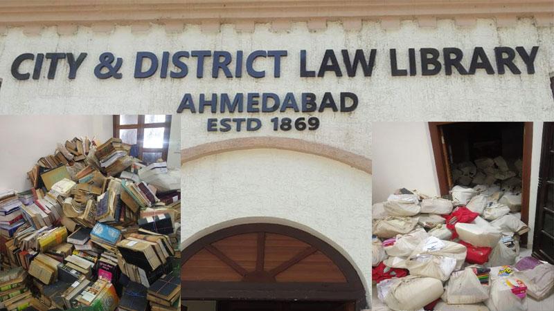 ahmedabad municipal corporation British raj library rare books sell in scrap