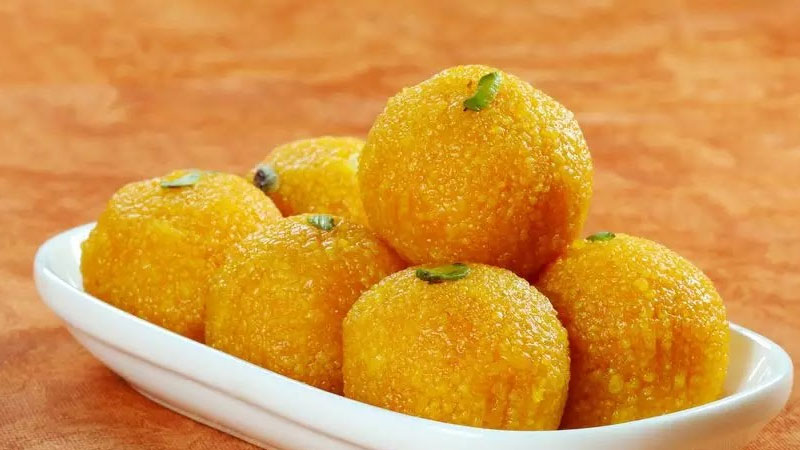 recipe Make Kesar Boondi Ladoo  at Home For Bhog Ganesh Chaturthi 2021