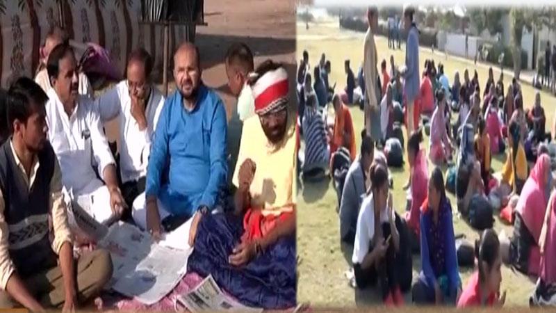 LRD Reservation agitation gandhinagar