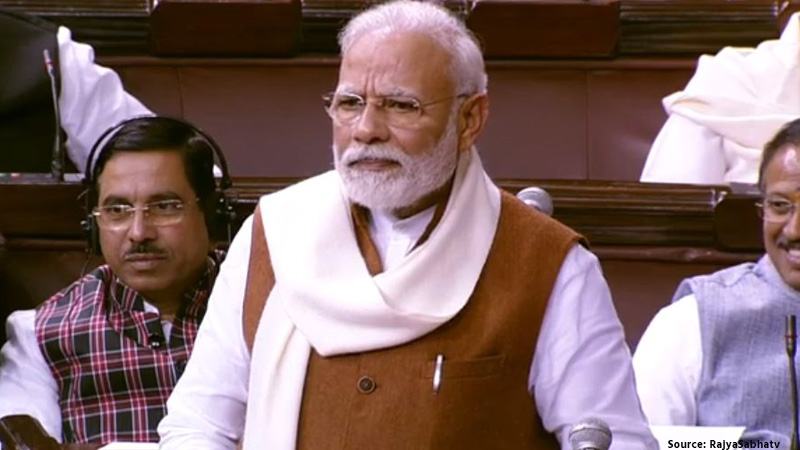 pm modi replies to motion of thanks on presidents address in parliament