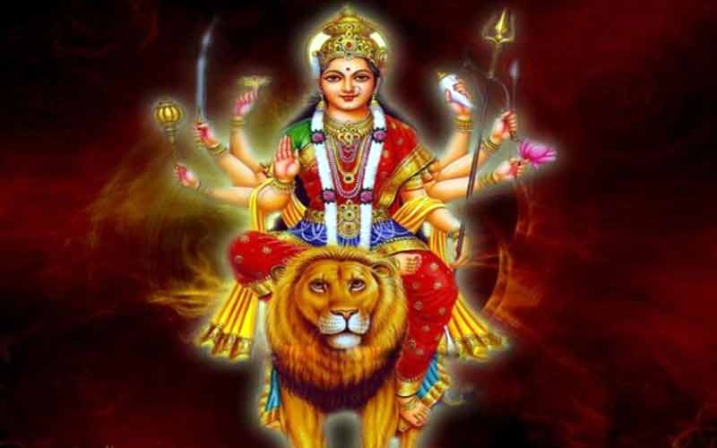 How did lion become a maa durga rider?