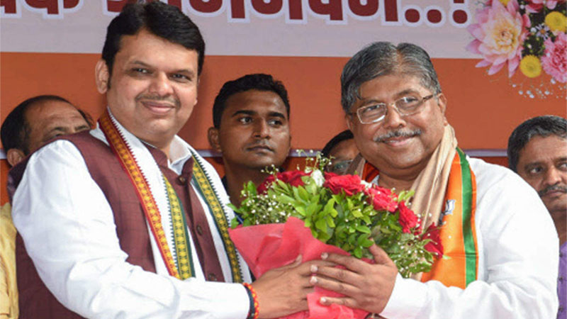 Congress and NCP 10 MLAs to join BJP soon, claims Chandrakant patil
