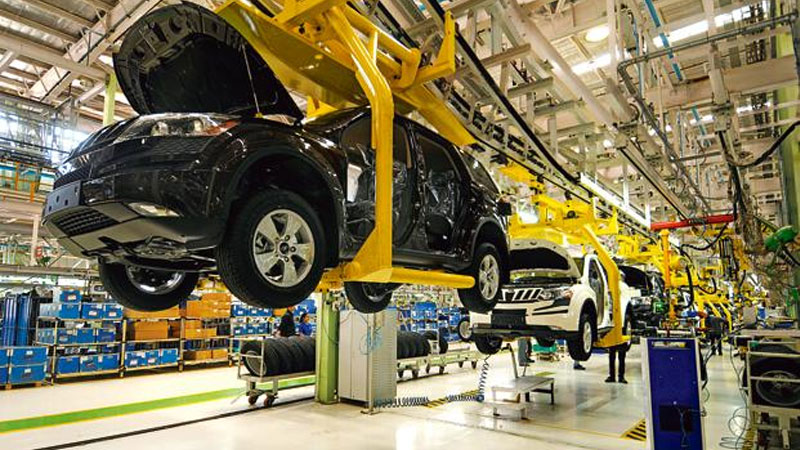 economy slowdown auto sector mahindra production days at plants for up to 17 days this quarter