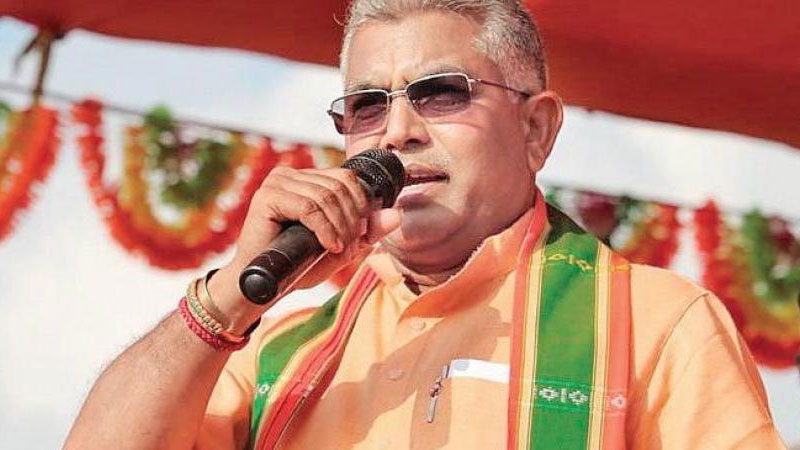 Dilip Ghosh hurls abuses at Mamata says those against Jai Shri Ram slogan will be forced into BJP