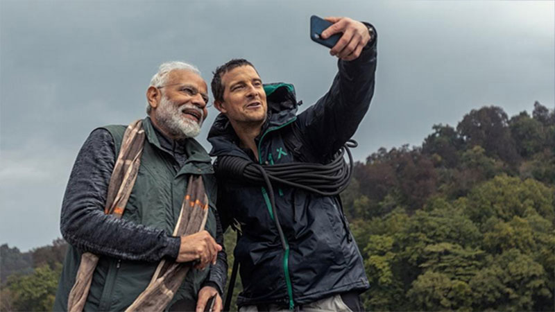 Pm Modi on discovery channel in Man Vs Wild on 12th aug