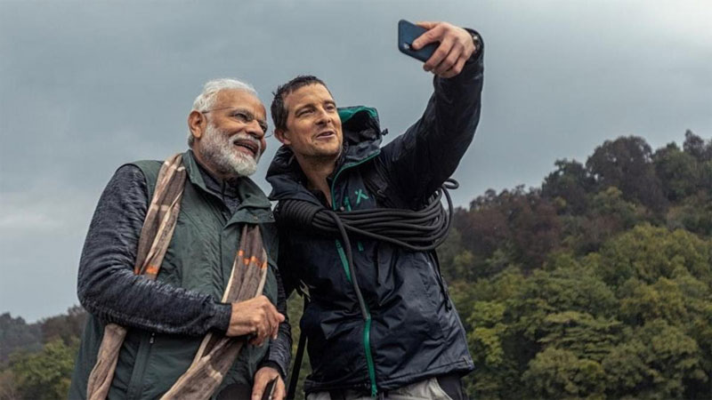 PM Modi First time revel how bear grylls understood Hindi in show Man VS Wild On Discovery