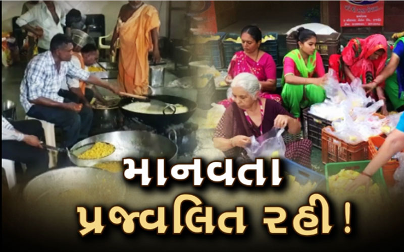 Cyclone Vayu food packets by swaminarayan temple and innkeeper