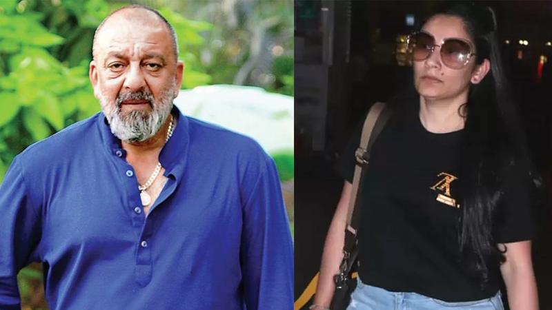sanjay dutt left mumbai with wife manyata dutt for dubai to meet their children