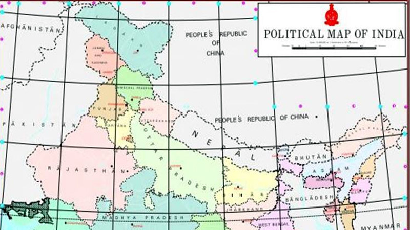 Nepal protests new political map of India