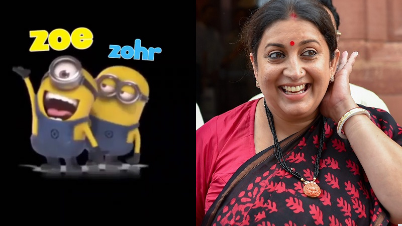 Smriti Irani shares a video of a cartoon minion on Insta, if you can't stop laughing