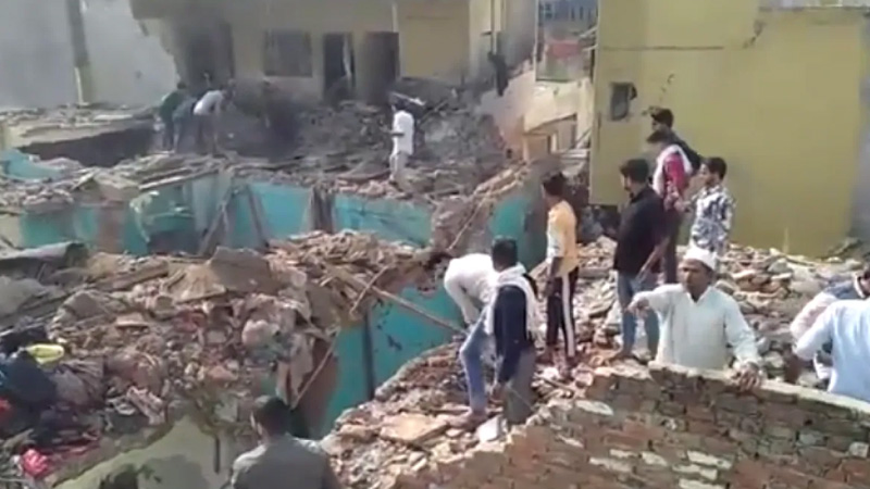 uttar pradesh meerut sardhana blast rescue operation