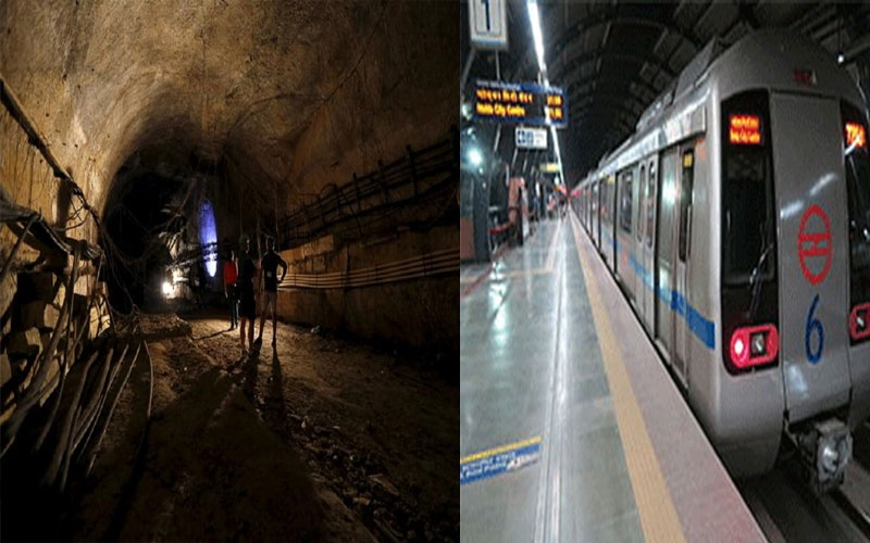 while-pune-metro-digging-work-century-old-tunnel-found