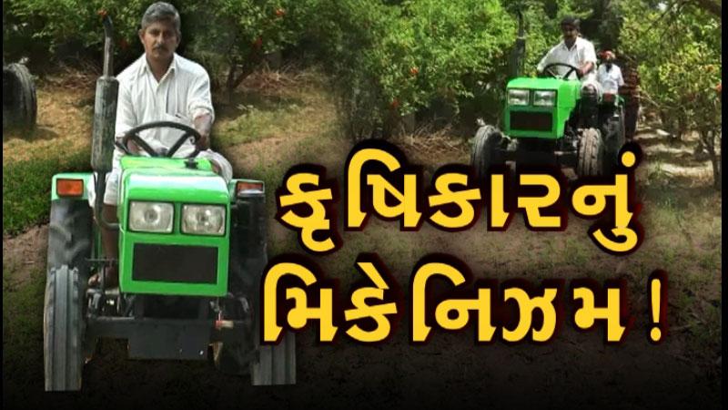 std-7 pass palanpur farmer made mini tractor