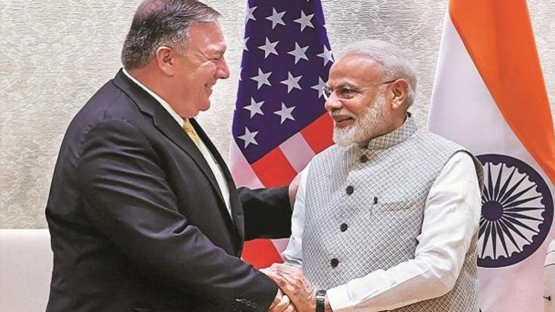china aggression china has moved upto north of india along lac says us foreign secretary mike pompeo