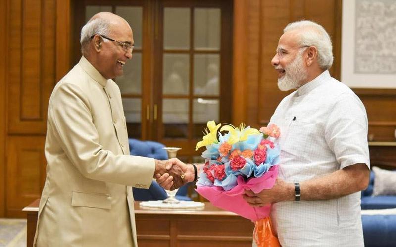 pm narendra modi to meet president ramnath kovind staking claim to form the govt sources