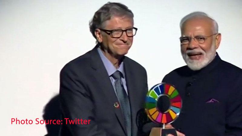 Global Goalkeeper award for PM Modi for Swachch Bharat Abhiyan