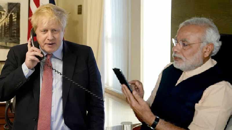PM Modi holds telephonic conversation with his British counterpart Boris Johnson