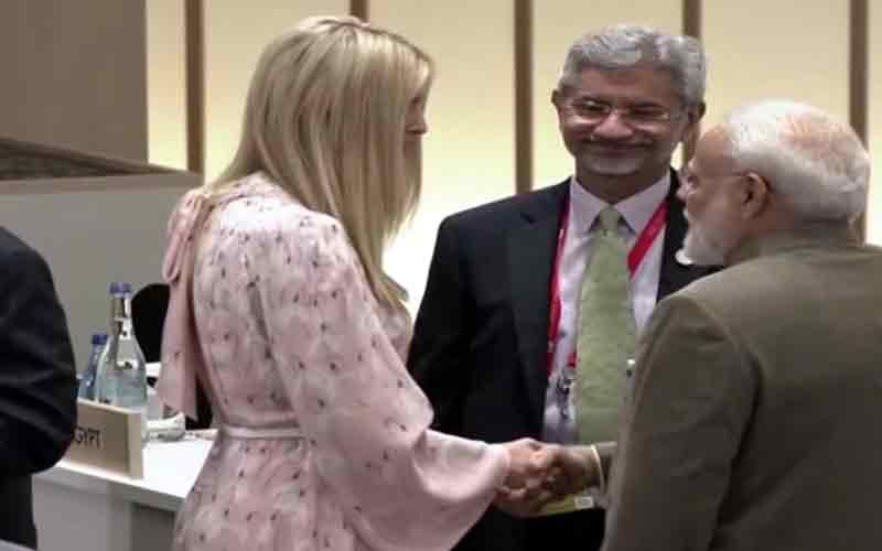 PM Narendra Modi, US President Donald Trump Ivanka Trump in Osaka