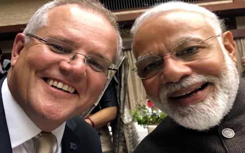 Australia Scott Morrison Tweets Selfie With PM Modi