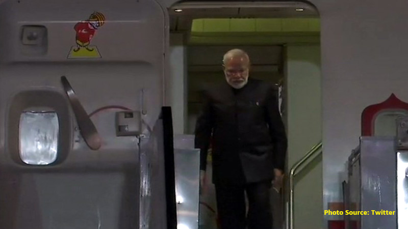 Prime Minister Narendra Modi returns to India