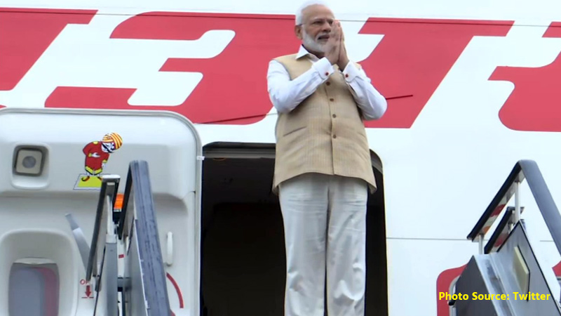 PM Modi arrives in Russia on two-day visit