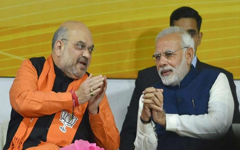 Amit Shah PM Modi meeting ministers and NDA leaders Exit Poll