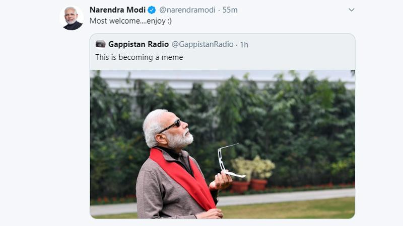 PM Narendra  modi surya grahan tweet