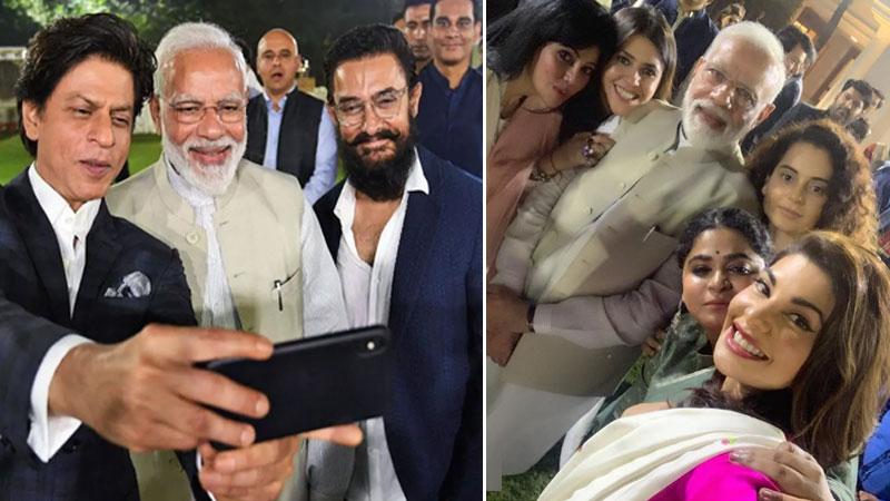 PM Modi Meets Bollywood Stars Mahatma Gandhi 150th birth anniversary