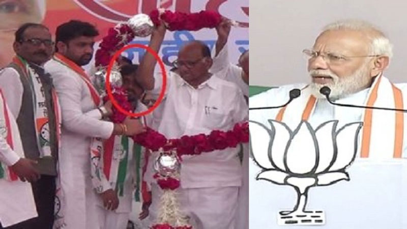 maharashtra assembly elections pm modi sharad pawar video viral congress