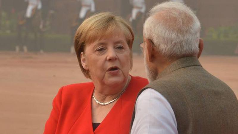 German chancellor angela merkel statement on jammu kashmir situation