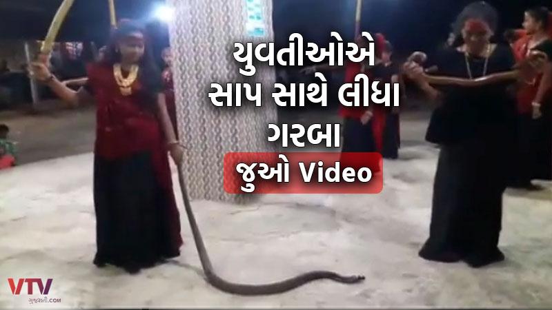 Snake Garba mangrol Junagadh Video Viral