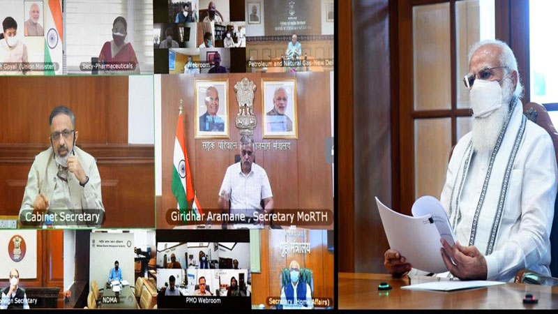 PM Modi chairs high level meet, reviews availability of oxygen & medicines; Gets briefed on Mucormycosis too