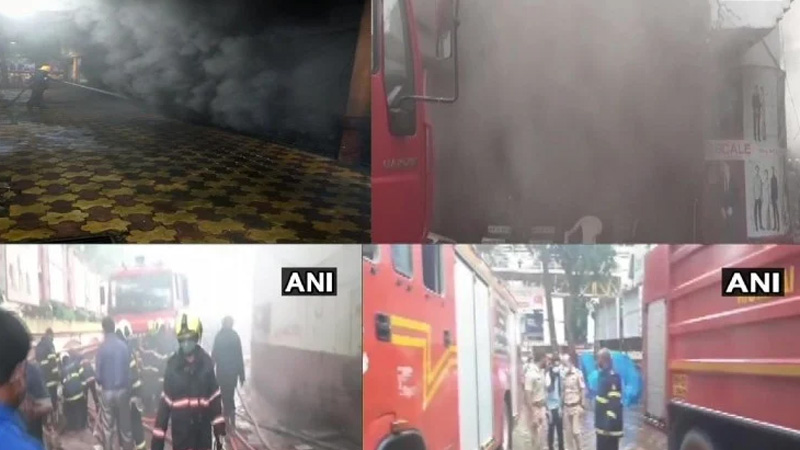 Fire Breaks Out At A Shopping Centre At Borivali West In Mumbai; 14 Fire Engines At The Spot
