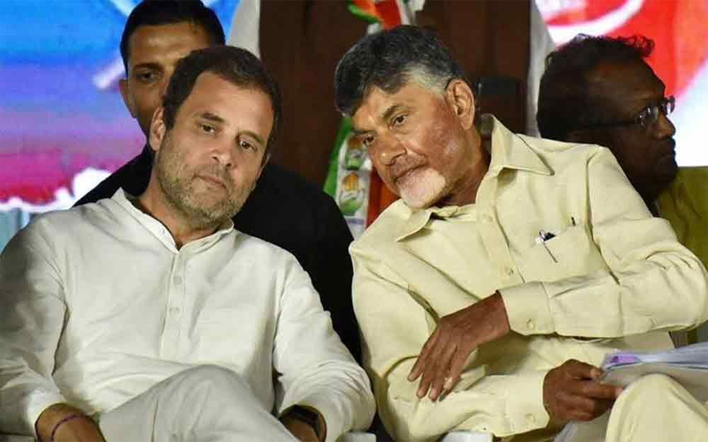 Chandrababu Naidu meet with Rahul Gandhi and Sharad Pawar for second time in 24 hours