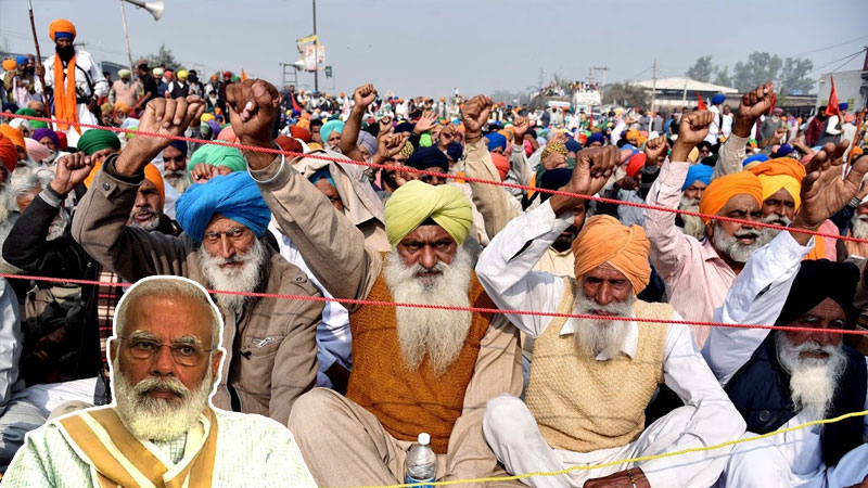 Farmers to burn effigies of PM Modi and oppose corporate world on 5th December