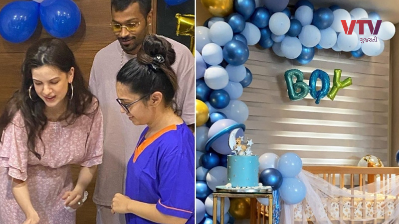 natasa and hardik pandya reveals their baby boys name