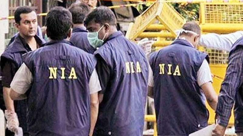 isis module case terror funding nia with ib raw carried out raids