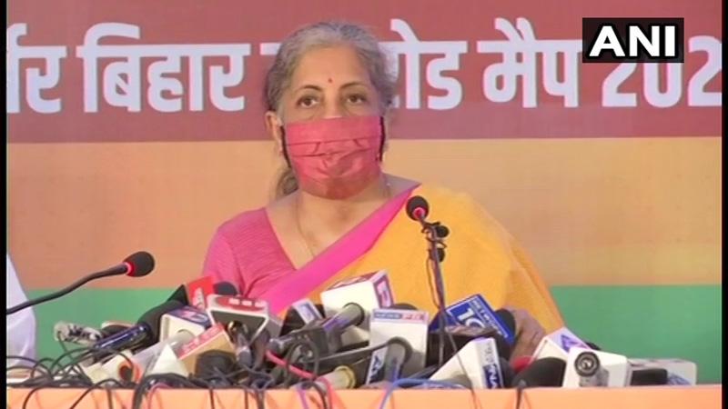bjp vision document bihar elections 2020 nirmala sitharaman jdu narendra modi