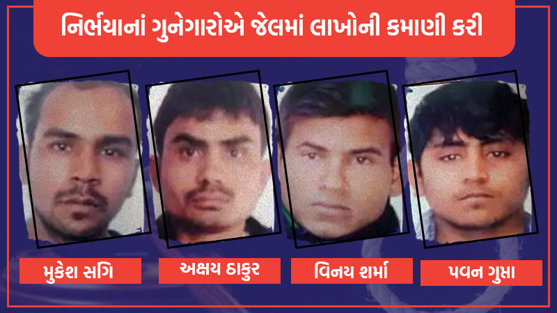 nirbhaya gang rape case convict income thousands rupees in jail