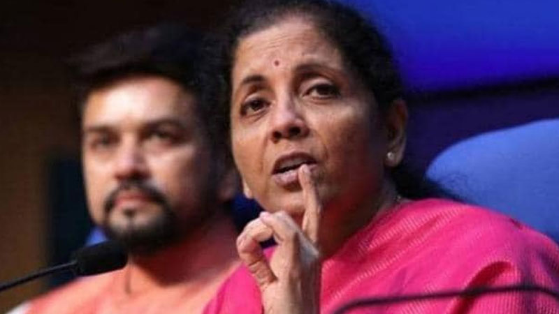 finance minister nirmala sitharaman rbi surplus modi government gst congress
