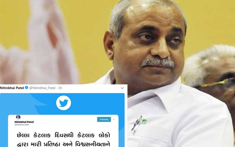 deputy-chief-minister-nitin-patel-tweeted-about-viral-messages-in-social-media