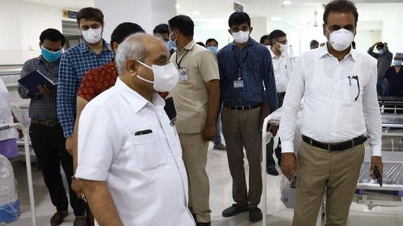 DyCM nitin patel visit ahmedabad Civil Hospital coronavirus