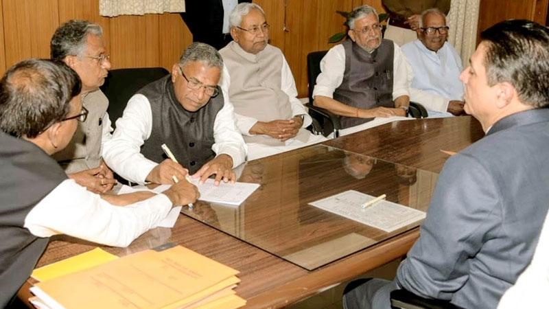nitish kumar oath ceremony 16 november bihar elections result nda