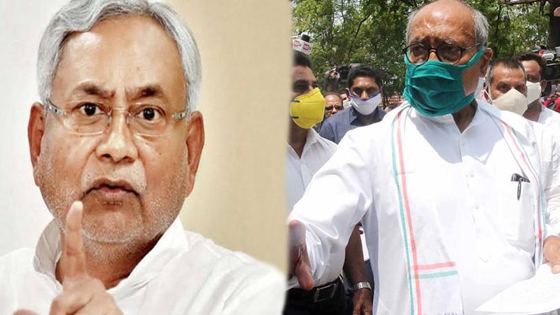 bihar election result 2020 digvijaya singh gave suggestion to nitish kumar ask him to leave bjp and rss nda alliance